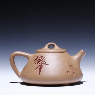 210ml Yixing Zisha ore smelting Shipiao famous handmade putty section teapot