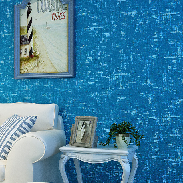 Beibehang Mediterranean Mottled Texture Wallpaper Bedroom Hotel Children S Room Non Woven Plain Color Simple