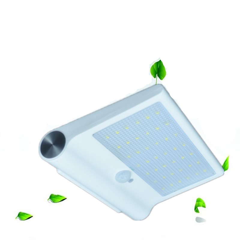 42leds 600lm 3.8W led Solar lamp White Color IP65 Waterproof Outdoor PIR Sensor Wall lamp+ Built-in lithium battery