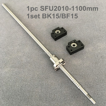 Ballscrew SFU / RM 2010- 1100mm Ballscrew with end machined + 2010 Ballnut + BK/BF15 End support for CNC