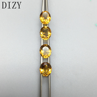 DIZY Brazil Yellow Citrine Oval Facetted Cut 10*12 mm Approx 4.85Cts Natural Loose Gemstone For 925 Silver and Gold Jewelry