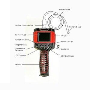 "Image 3 - Dia 8.5mm 1 M 2 M สายวิดีโอ Endoscope Borescope กล้อง 99D2 2.3 ""LCD สีกันน้ำท่อกล้องตรวจสอบหลอด"