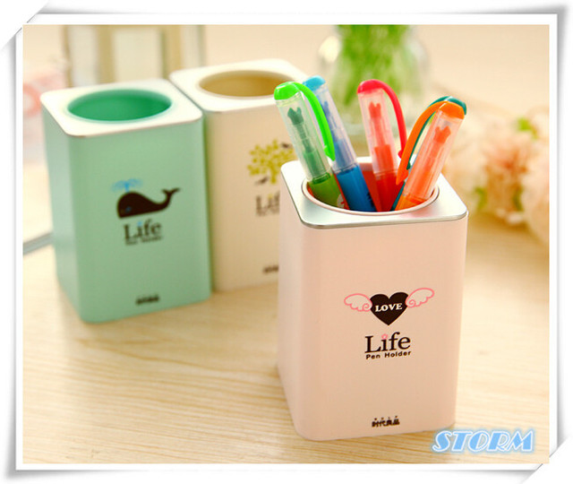 Cute Pen Holder Creative Office Accessories Simple Escritorio Pencil Holder  For Office Supplies Gift Decorative Stationary