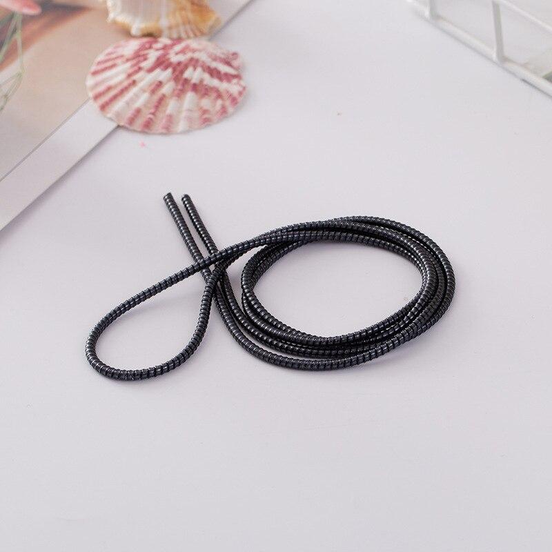 100 pièces 1.4 M USB charge données ligne câble protecteur fil cordon Protection câble enroulé enrouleur organisateur pour iPhone pour Samsung - 6