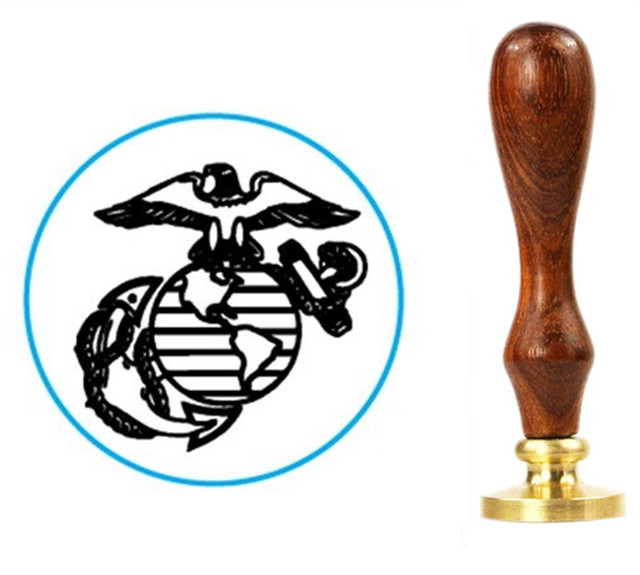 Us Marine Corps Symbol 1wax Seal With Deluxe Handle In Stamps From