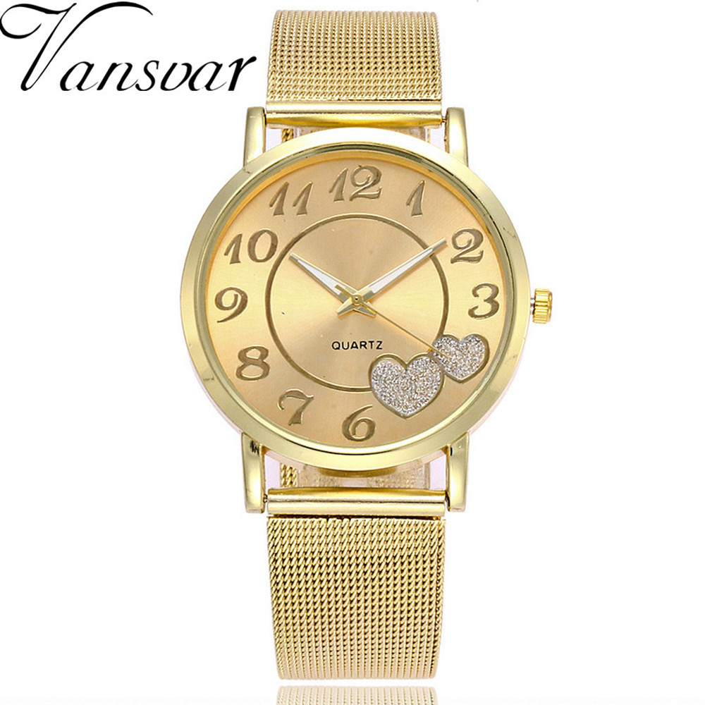 Watches women fashion watch 2019 luxury brand Quartz Watch lady  Heart Stainless Steel Womens Watches Relogio Feminino Clock