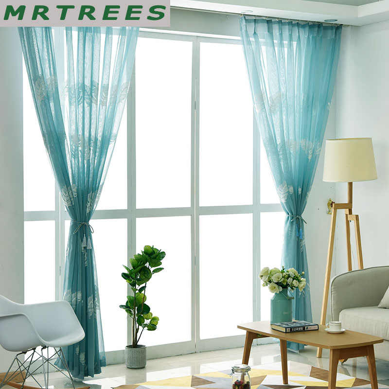 Hot sale Tulle Sheer Window Curtains for Living Room Bedroom Tulle Curtains for The Kitchen Modern Tulle for Window drapes door