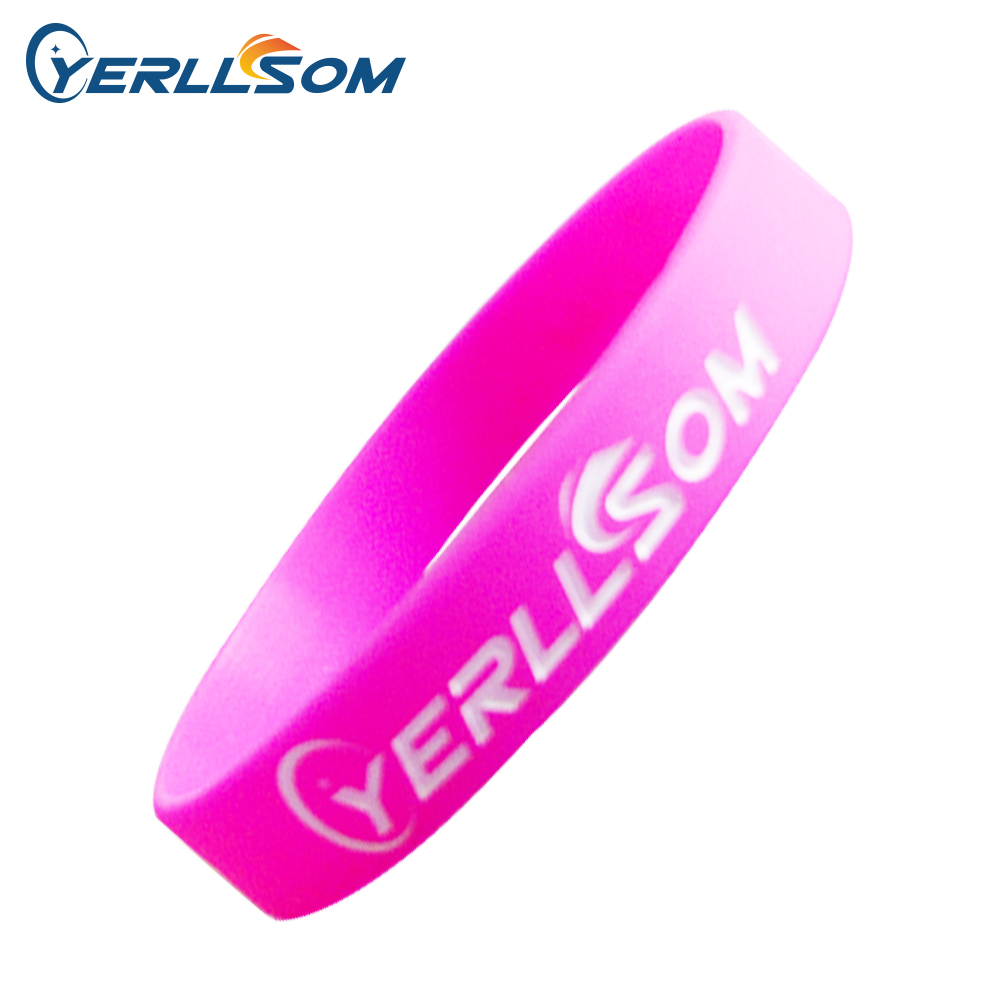 1000PCS Lot High quality Hot Selling Custom only Engraved Logo Rubber Bracelets For Promotion Gifts P161016