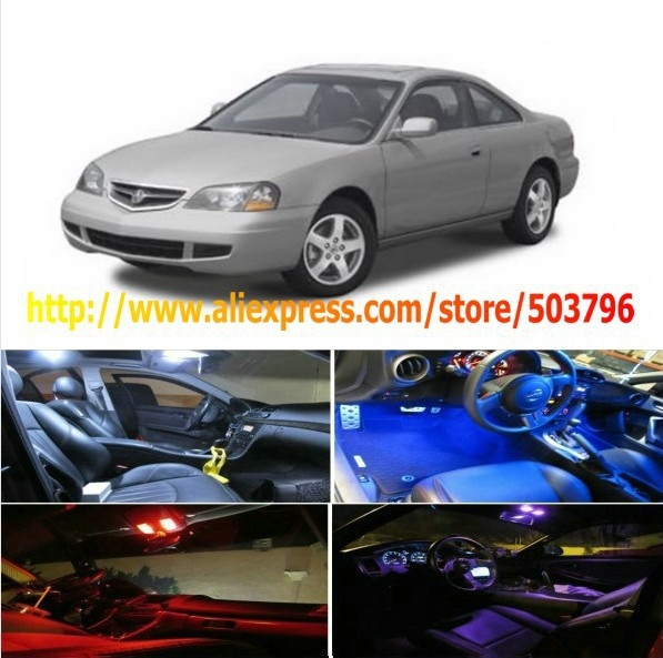 Free Shipping 6Pcs/Lot car-styling LED Interior Package Combo Kit High Power LED Dome Lights For Acura CL 2001-2003
