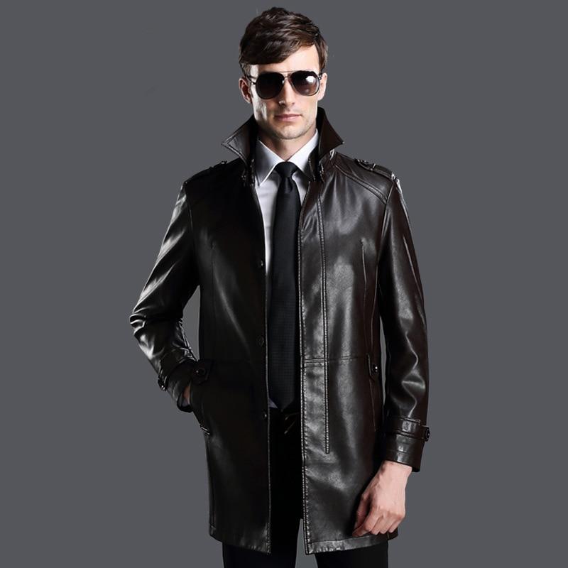 Hj422 Couro Cuir Black Pu Hiver Plus Veste Décontractés En Velours Hommes Automne Vêtements 4xl coffee Jaqueta 2016 Masculino Taille Marque ET7qUS
