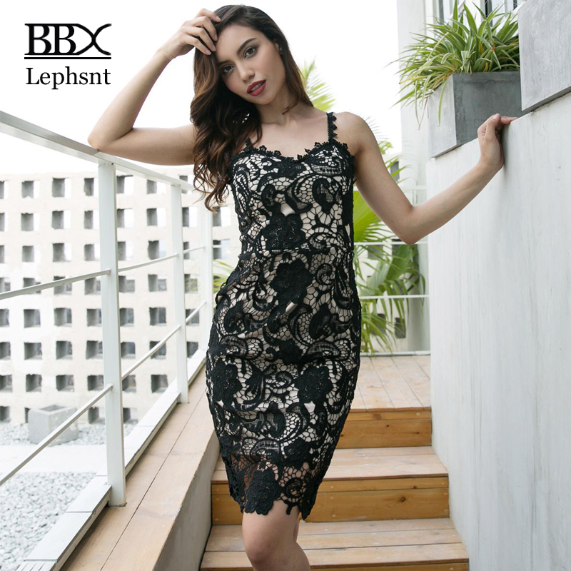 BBX Lephsnt 2018 summer women lace dress bodycon sundress sexy dress club wear spaghetti strap dress robe ete femme B83048 ...