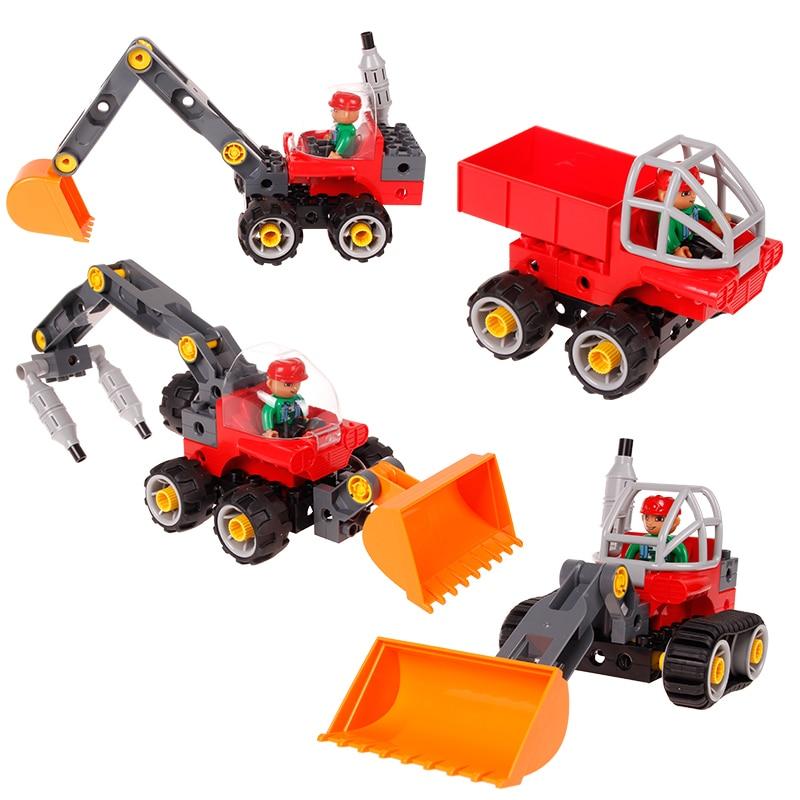 Blok Bangunan Kreatif Kereta Set 5 dalam 1 Trak Kejuruteraan - Mainan pembinaan - Foto 5