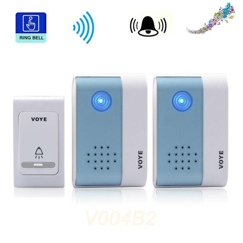 REDEAGLE Wireless Doorbell 38 Chimes Songs 1 Transmitter 2 Digital Receiver Door Bell V004B2 For Villa Office House
