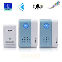 REDEAGLE Wireless Doorbell 38 Chimes Songs 1 Transmitter 2 Digital Receiver Door Bell V004B2 For Villa