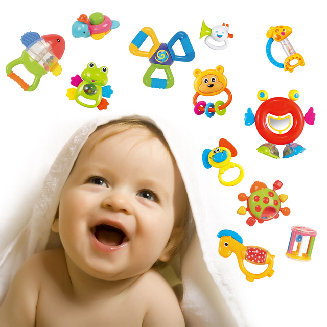 12PCS Baby Rattle Toys Newborn 0-12 Months Teether Toys