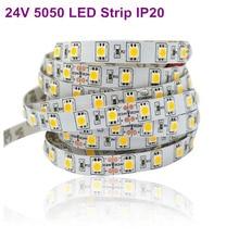 5050 SMD LED Strip 24V Flexible Light 60LED/m 5m 300LED Non Waterproof/Waterproof Led Light Free shipping(China (Mainland))