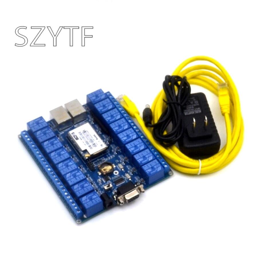 Relais de contrôle de réseau à 16 canaux commutateurs P2P WIFI module 16 relais télécommande de contrôle mobile pour arduino