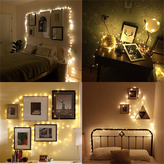 1pcs Diy Wedding Decoration Colorful Lanterns String Lights Mini Lamp Creative Lighting Chains Bedroom