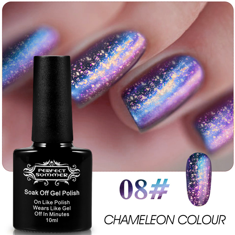 Perfect Summer UV Soak Off Chameleon Color Nail Gel Polish Elegant Change Led Long Lasting Magic Gel Varnish DIY Nail Art