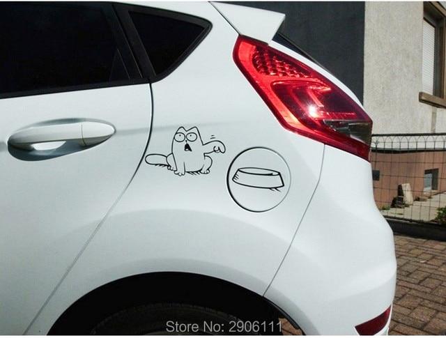 Hungry simons cat bowl car sticker gas tank cap for opel mokka zafira corsa d astra