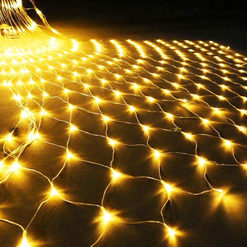 LED Net Lights Fairy String Light 220V EU Plug Decorative Mesh Lighting For Christmas New Year Wedding Garden Outdoor Decoration