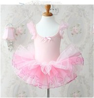 Child Kids Baby Girls Pink Leotard Ballet Tutu Dress Dancewear Dance Costume Vestido Infantils 3 8T