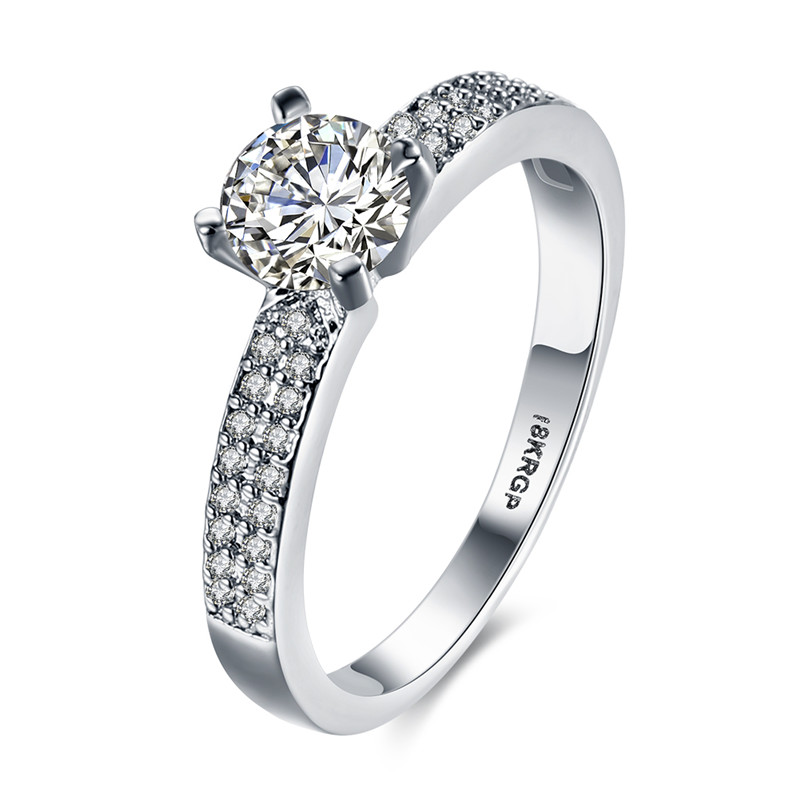 KJ-GPR828, KimJ Brilliant-18 fashion Ring, top Brilliant cz plated silver color Best ring for gift Christmas, party or lady
