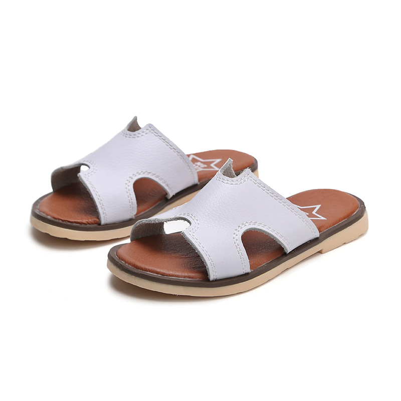 2019 Summer Baby Toddler Children Non Slip Beach Shoes Sweet Princess Shoes New Boys And Girls Sandals Leather Shoes