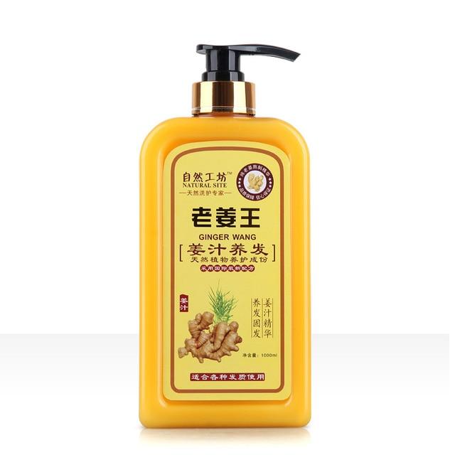 Hair Shampoo Ginger Juice  Anti-off Hair Growth Natural Herb Anti dandruff Shampoo Oil Control  Professional Care 1000ML