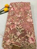 Новое поступление довольно многоцветный 3D цветы вышивки на сетке французского кружева ткани сетка тюль торжественное платье Лоскутная Тка