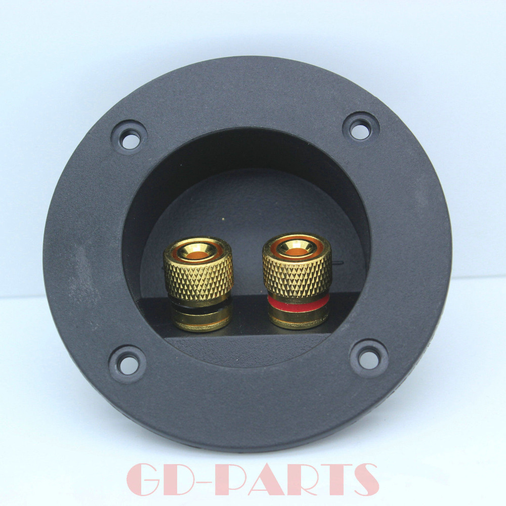 75mm hifi audio speaker cabinet binding post board terminal box connector cup gold plated lot