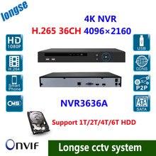 HD H.265 ONVIF p2p NVR 36ch NVR 4K/5mp/4mp/3m/2mp IP camera video recorder cctv system