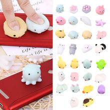 Besegad 30 PCS Kawaii Soft Wipes Mochi Squishy Squeeze Animal Cat Toys Slow Rising for Children Adults Relieves Stress Anxiety(China)
