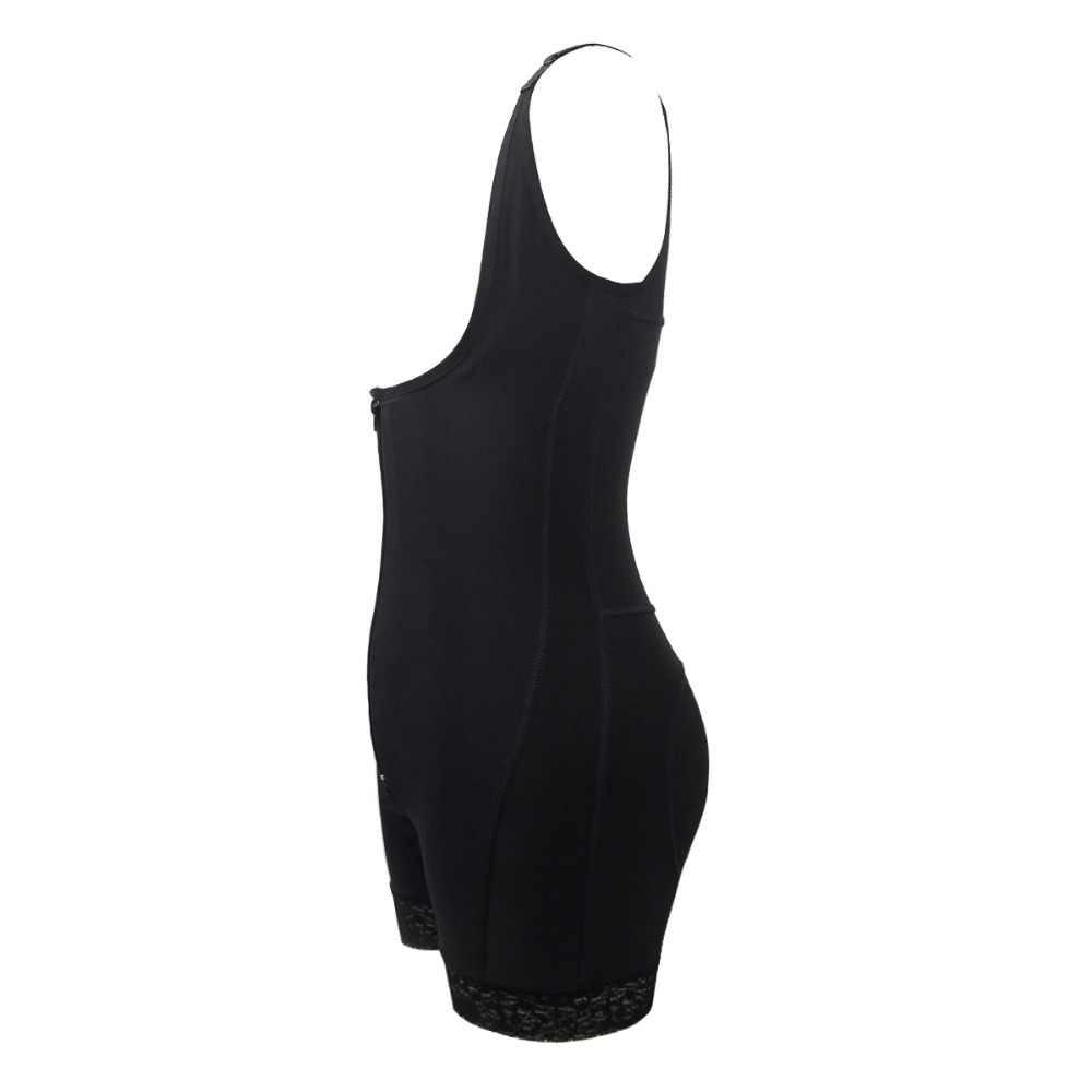 Frauen Haut Schwarz Farbe Ein Stück Körper Former mit Spitze Zipper Unterbrust Plus Größe 5XL 6XL Weibliche Unterwäsche Body Dropshipping