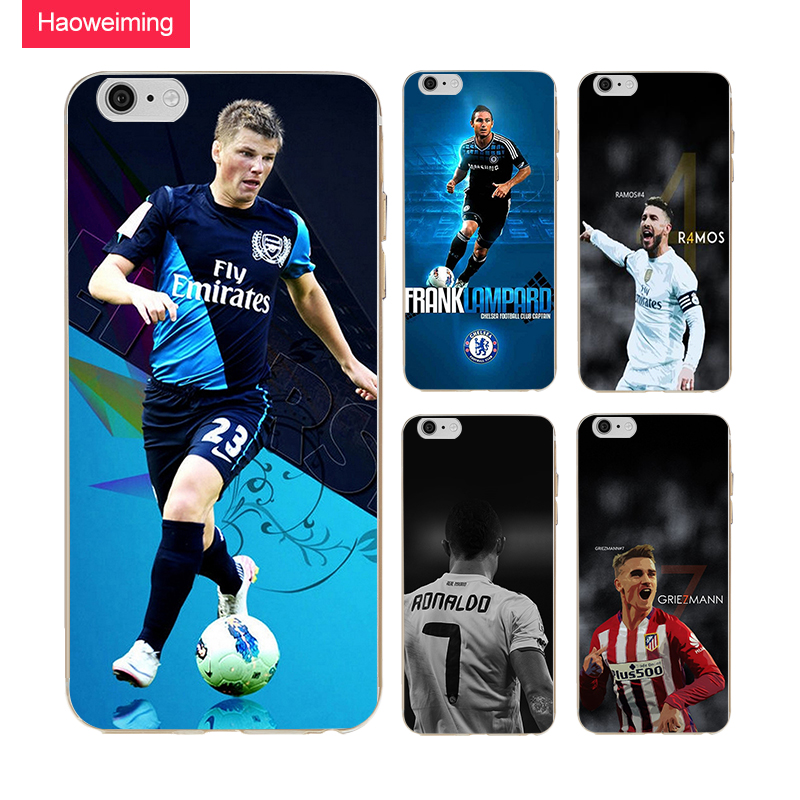 Haoweiming Soccer Sports Stars Slim Silicone Soft TPU Cover Case For iphone X 4 4S 5 5S SE 6 6S 7 8 Plus #H264
