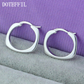Real 925 Sterling Silver Endless Small Circle Hoop Earrings For Women Baby Girl Kids Jewelry Anti-Allergic Body Piercing Jewelry