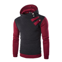 New Listing Autumn And Winter Men S Pullover Personality Stitching Hoodie Men S Brand Casual Fashion