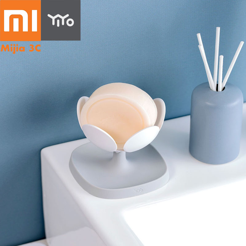 Xiaomi YIYOHOME Lotus Soap Holder Container Mounted Soap Holder For Bathroom Product Cosmetics Key Shower Storage Soap Dish
