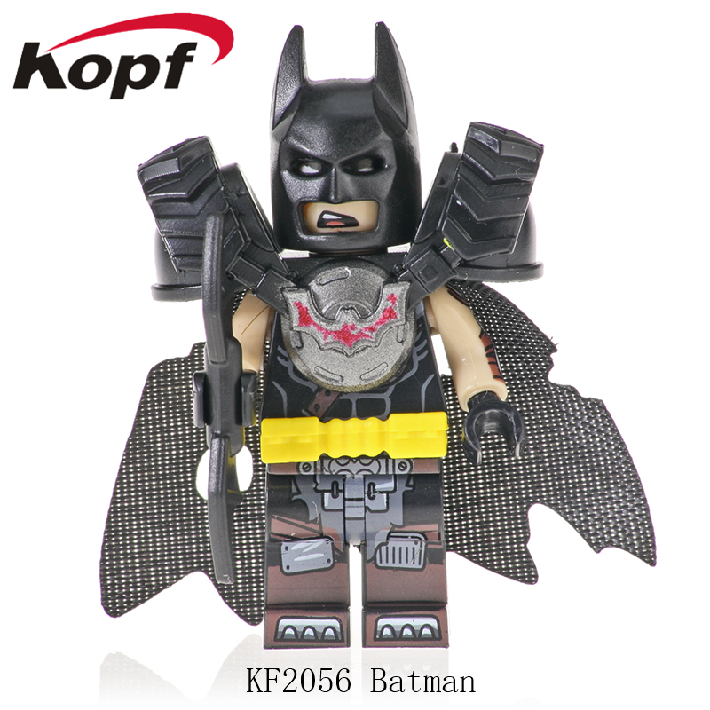Single Sale Super Heroes Action Figures Big Movie 2 Batman Emmet Wyldstyle Building Blocks Bricks Children Gift Toys KF2056