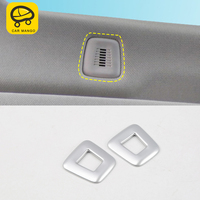 CARMANGO For BMW G30 5 series 2018 2017 Auto Car styling Front up vent frame Trim sticker cover Interior Accessories