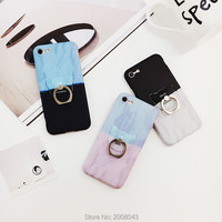 Cute Color Gradient Case For IPhone 6 6S Plus With Cat Ring Holder Phone Cases For