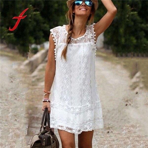 wit zomer jurkje