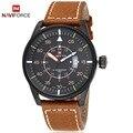 Hombres Del Reloj de moda Top luxury brand NAVIFORCE Deporte Militar Relojes Hombres Reloj de Cuarzo Ocasional de Cuero Reloj de pulsera relogio masculino