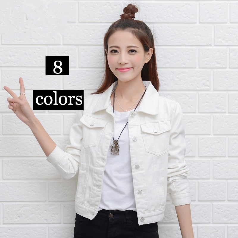 2018 Fashion Women Denim Jacket Coat Casual Jean Jackets GIRL Basic Coat Lady Long Sleeve Autumn Winter Female Clothing S-2XL