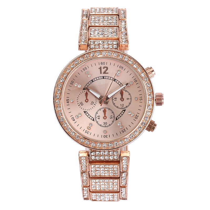 High Quality Women's Crystal Watches New Designer women's quartz analog watches fashion lady watches relojs gold watch