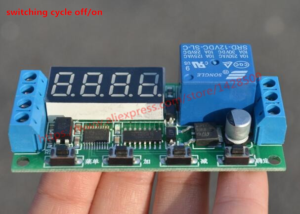 Delay Time Relay Module Timer relay Control Cycle Timer 12V LED Display Intelligent Control Time Relay/Delay for switching cycle 1pc multifunction self lock relay dc 5v plc cycle timer module delay time relay