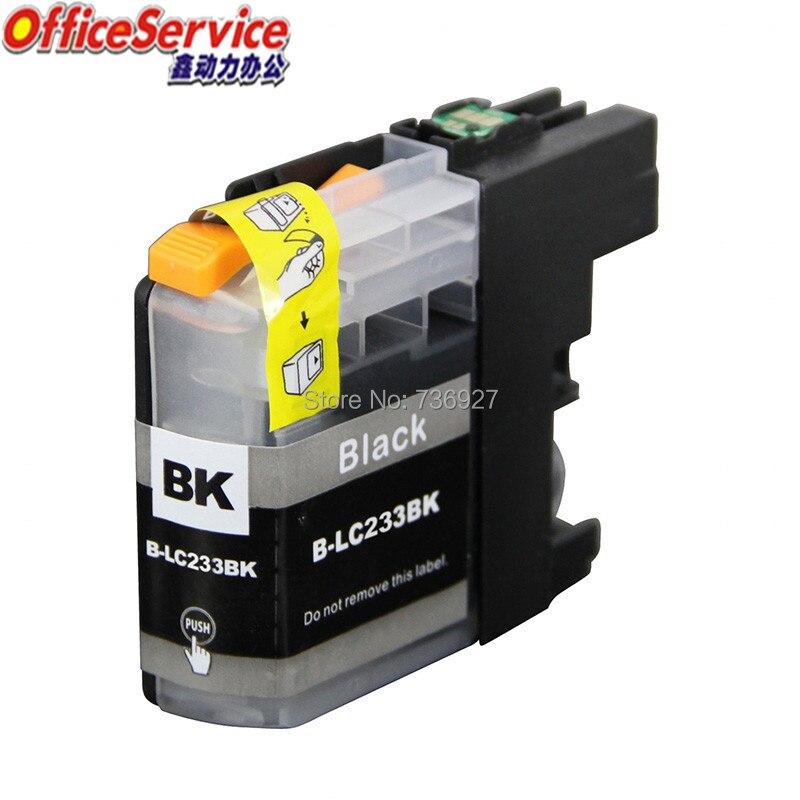Черный чернильный картридж 5 для LC233, совместимый чернильный картридж LC 233 для лазерного струйного принтера