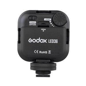 Image 3 - Orijinal Godox LED36 LED Video Işığı 36 LED Işıkları Lamba Fotografik Aydınlatma 5500 ~ 6500 K DSLR Kamera Kamera için mini dvr