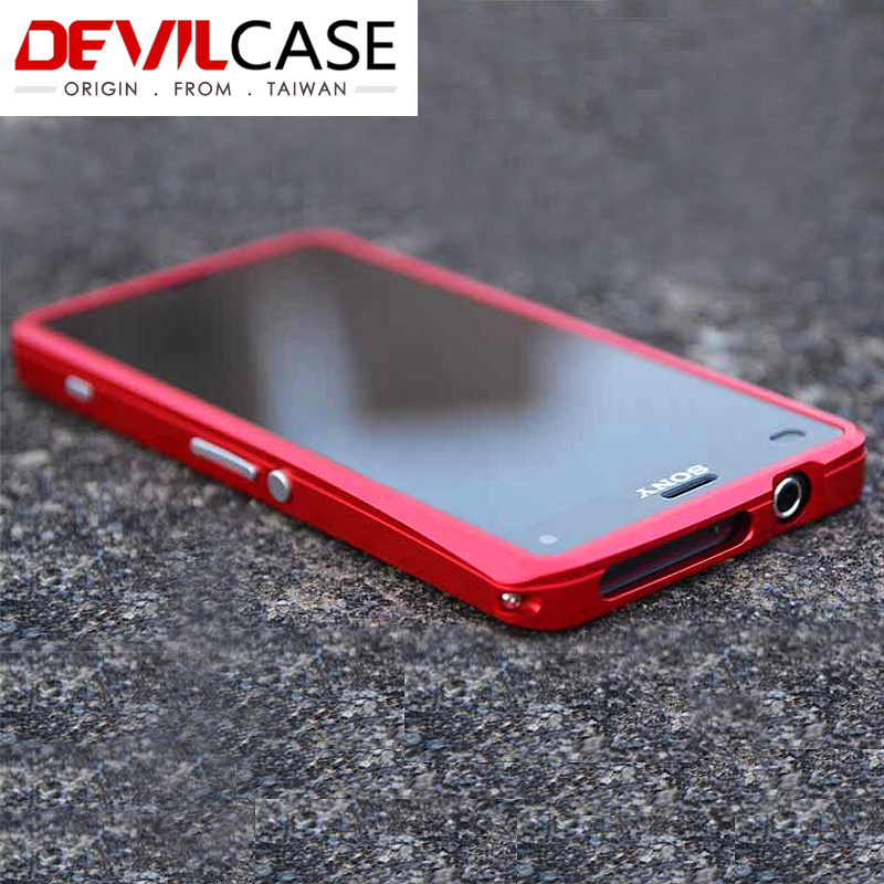 DEVILCASE For SONY Z3 Compact Z3mini 4 6 Inches Aluminum Alloy Bumper Frame Hard Cases For