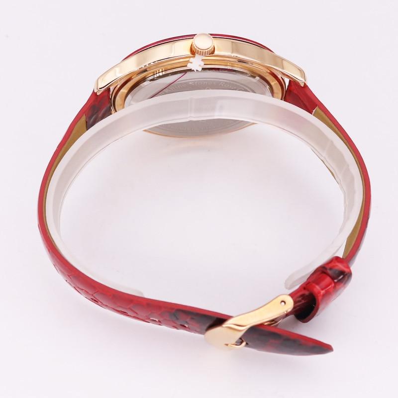 Patrón de pitón colorido señora reloj de mujer Japón cuarzo horas moda diamantes de imitación cuero cristal chica cumpleaños regalo caja - 4